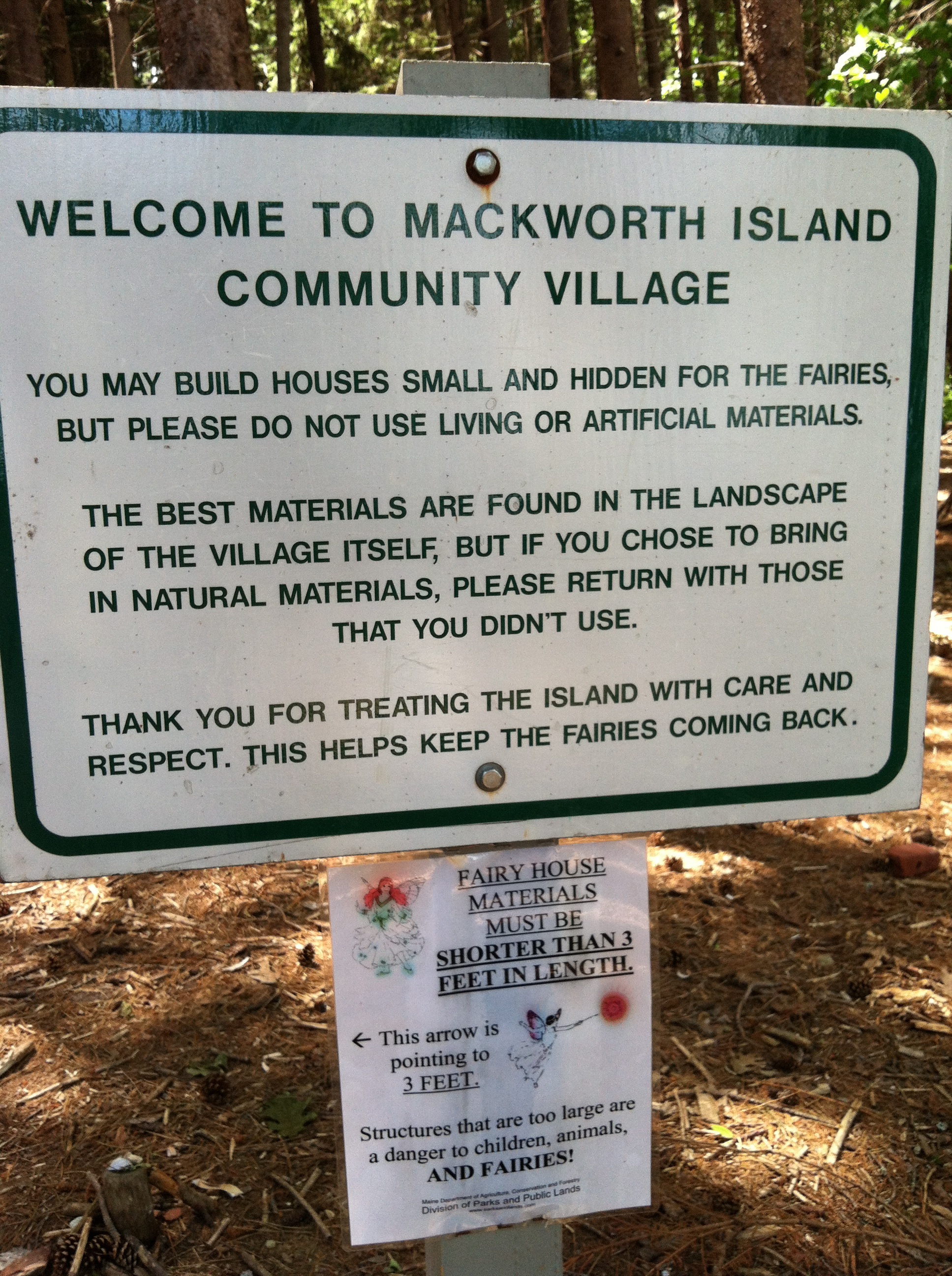Mackworth Island Fairy Community Welcome