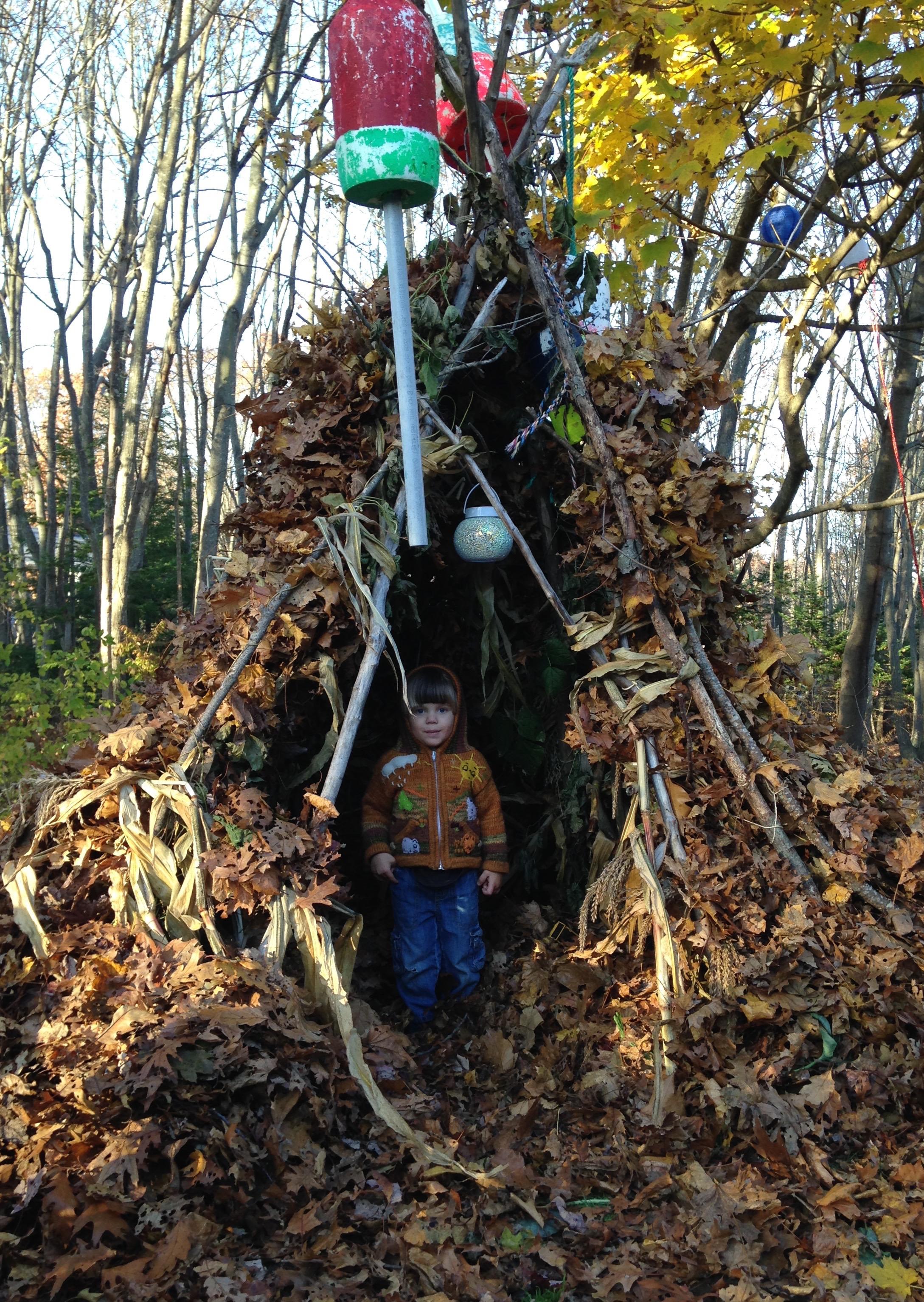 Backyard fun, fall teepee