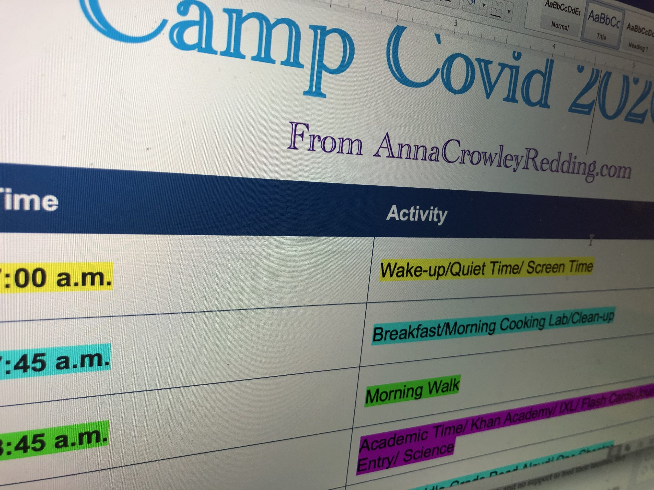 Camp Covid Starts Now