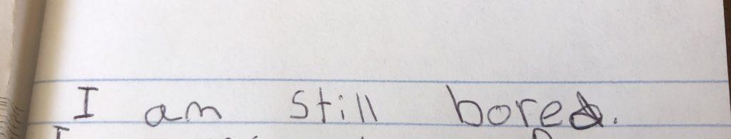 Kid journal text