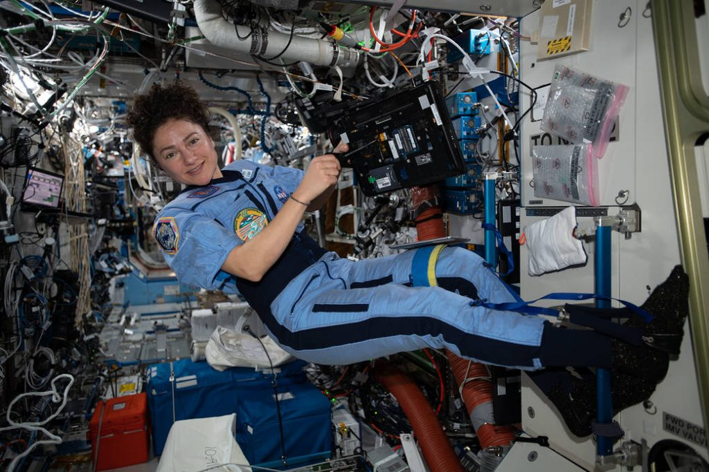 Astronaut in Space ISS Jessica Meir