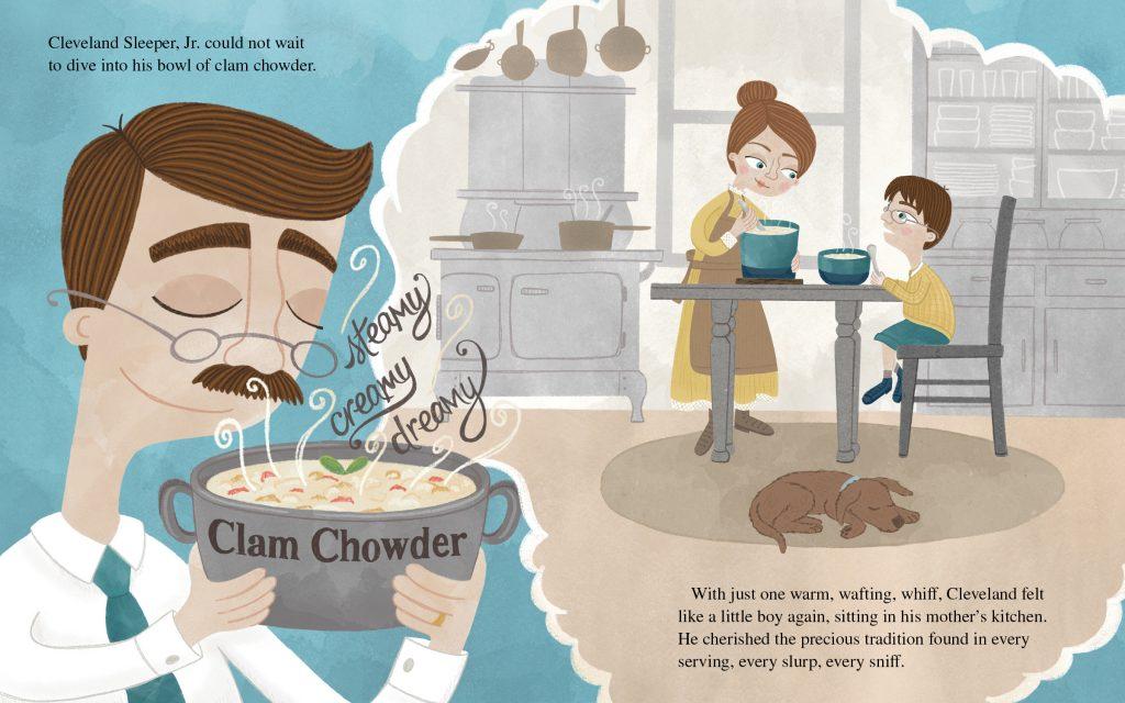 Clam Chowder Rules! Inside Spread