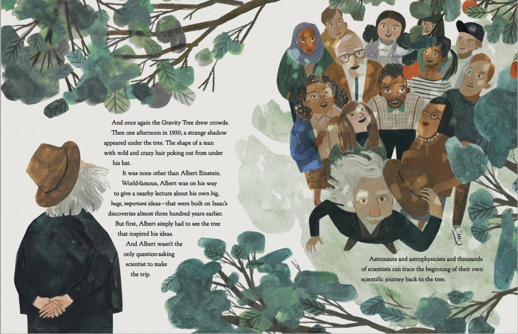 The Gravity Tree Illustration featuring Albert Einstein